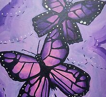 purple butterfly  by theblankkcanvas