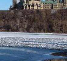 Canada Parliament Buildings Ottawa River Sticker