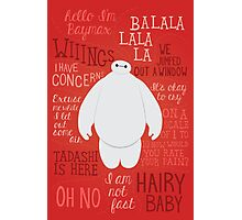 Hello, I'm Baymax Photographic Print