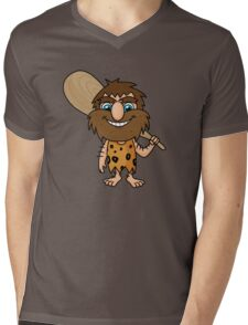 cave man Mens V-Neck T-Shirt