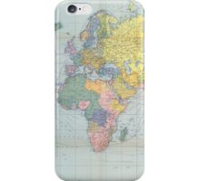 World Map Vintage 1944 iPhone Case/Skin
