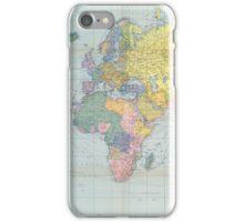 World Map Vintage 1944 iPhone Case/Skin
