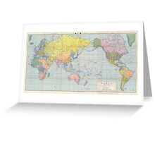 World Map Vintage 1944 Greeting Card
