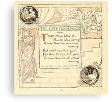 The Baby's Own Aesop by Walter Crane 1908-20 The Lazy Housemaids Canvas Print