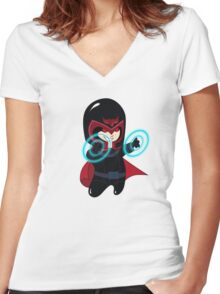 baby magneto (from x-men) Women's Fitted V-Neck T-Shirt