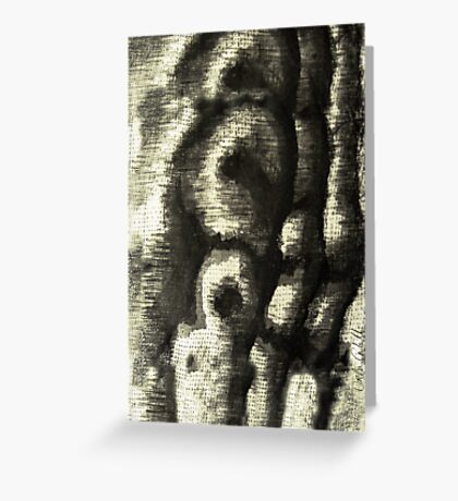 Etching Abstract Greeting Card