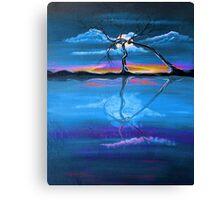 Original Blue Reflection landscape by ANGIECLEMENTINE Canvas Print