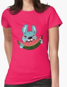 The watermelon Womens Fitted T-Shirt