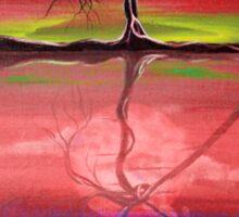 Original Pink landscape by ANGIECLEMENTINE Sticker