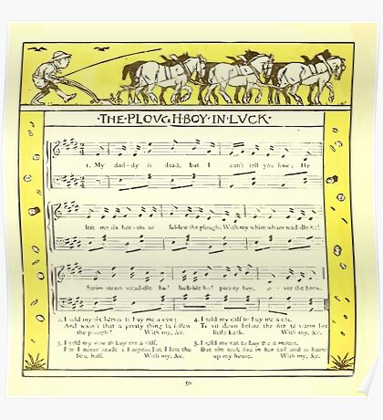 The Baby's Opera - A Book of Old Rhymes With New Dresses - by Walter Crane - 1900-54 The Plowboy In Luck Poster