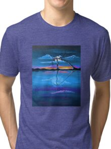 Original Blue Reflection landscape by ANGIECLEMENTINE Tri-blend T-Shirt