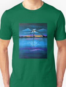 Original Blue Reflection landscape by ANGIECLEMENTINE Unisex T-Shirt
