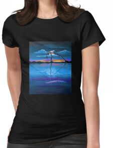 Original Blue Reflection landscape by ANGIECLEMENTINE Womens Fitted T-Shirt