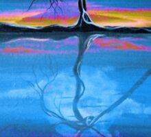 Original Blue Reflection landscape by ANGIECLEMENTINE Sticker