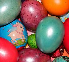 Easter eggs closeup by Amy-sCorner