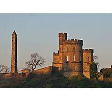 Sunset on Calton Hill - Edinburgh, Scotland Photographic Print