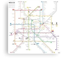 Mexico metro map Canvas Print