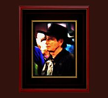 """""""Mysterious Stranger in Town"""" ... with a canvas and framed presentation for prints and products by © Bob Hall"""