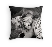 Portrait of a Zoo - Tigers Throw Pillow