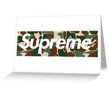Supreme x Bape Box Logo Greeting Card