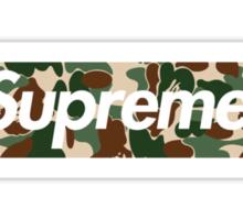 Supreme x Bape Box Logo Sticker