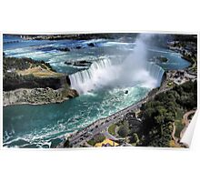 Niagara Fall from the air Poster