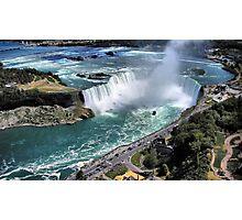 Niagara Fall from the air Photographic Print
