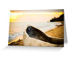 Native Canoe, Meponda, Mozambique Greeting Card