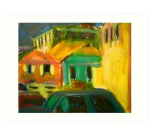 Bahama Buildings Art Print
