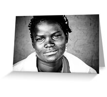 Series: Faces of Meponda, Mozambique #1 Greeting Card