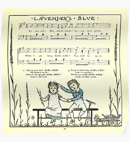 The Baby's Opera - A Book of Old Rhymes With New Dresses - by Walter Crane - 1900-21 Lavender's Blue Poster