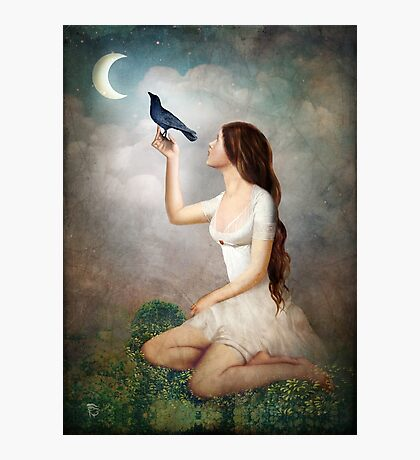 The Moon Asked The Crow Photographic Print
