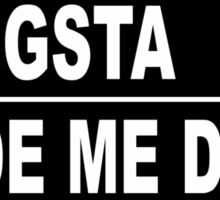 gangsta rap Sticker