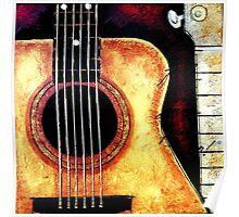 Natural Classical Acoustic Guitar Poster