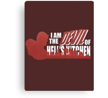 The Devil of The Kitchen  Canvas Print
