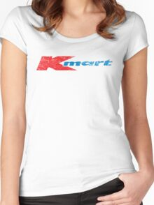 Vintage 80's 90's K-Mart Logo Distressed Women's Fitted Scoop T-Shirt