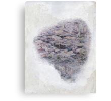 Foggy Heart City Canvas Print
