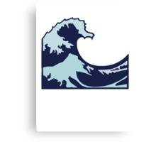 Wave Emoji Canvas Print