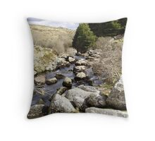 moorland river Throw Pillow
