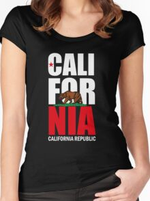 California Republic Women's Fitted Scoop T-Shirt