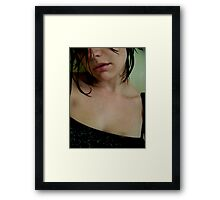 ...and Sounds Dripped from Her Lips. Framed Print