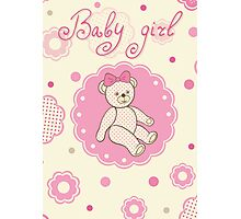 Pattern for baby girl Photographic Print