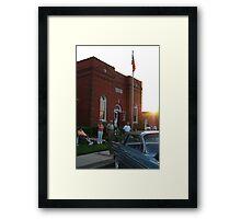 small town saturday night Framed Print