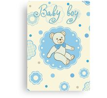Pattern for baby boy Canvas Print