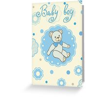Pattern for baby boy Greeting Card