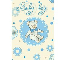 Pattern for baby boy Photographic Print