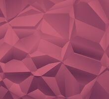 Red polygon background by bobstudio