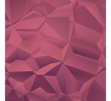 Red polygon background Photographic Print
