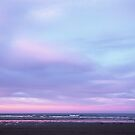 Sunset sky over Sumner beach by Louise Marlborough