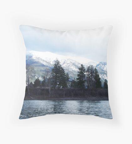 Springtime in Montana Throw Pillow